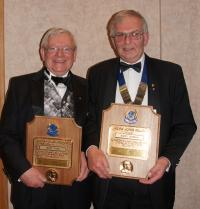Melvin Jones Award Winners, Geoff Foan (Left) and Barry Germain