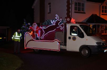 Father Christmas in Meitner Close, Bramley