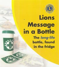 Lions Message in a Bottle Scheme