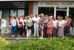 Cheque Presentation to Tadley Singers