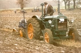 A Vintage Tractor Drawn Plough