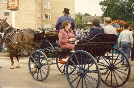 Loddon Valley Lion President Guy Elliot prepares to drive his Lady and The Mayor & Mayoress of Basingstoke at the head of the 1988 procession